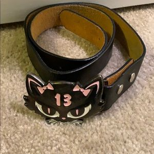 Black Katz belt buckle and belt